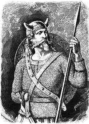 Tyr illustration viking norse god of honor and justice.