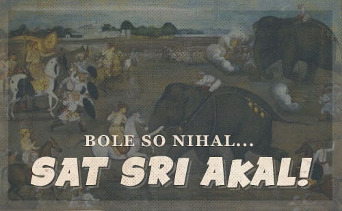 Sikh battle cry.