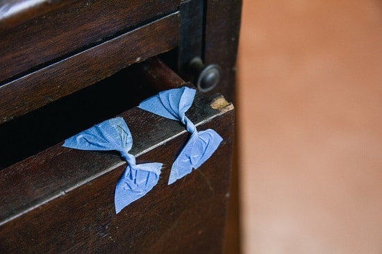 blue tape butterfly