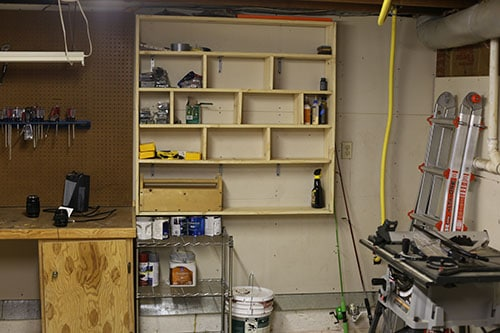 Organised Garage Shelves