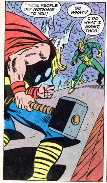 vintage loki and thor comic