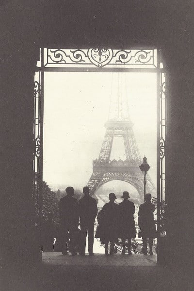 Vintage photograph paris eiffel tower.