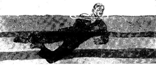 Vintage WWII swimming side stroke illustration.