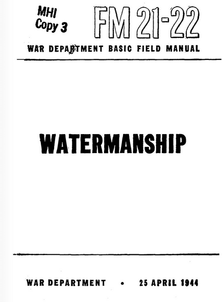 fm 21-22 watermanship manual wwii