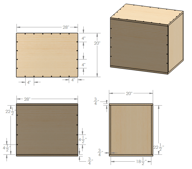 homemade diy plyometric box cad