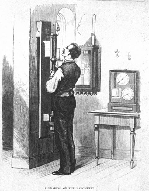 vintage mercury barometer illustration