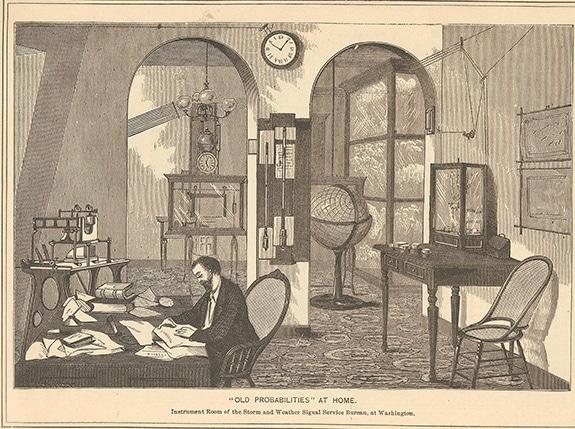 Barometer weather station vintage.