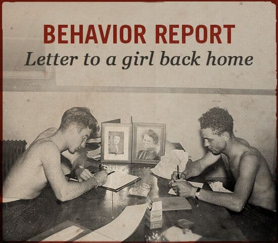 Behavior report WWII slang.