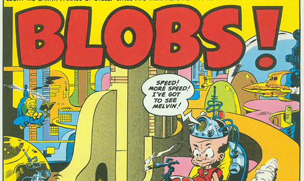 Mad Magazine blobs comic poster.