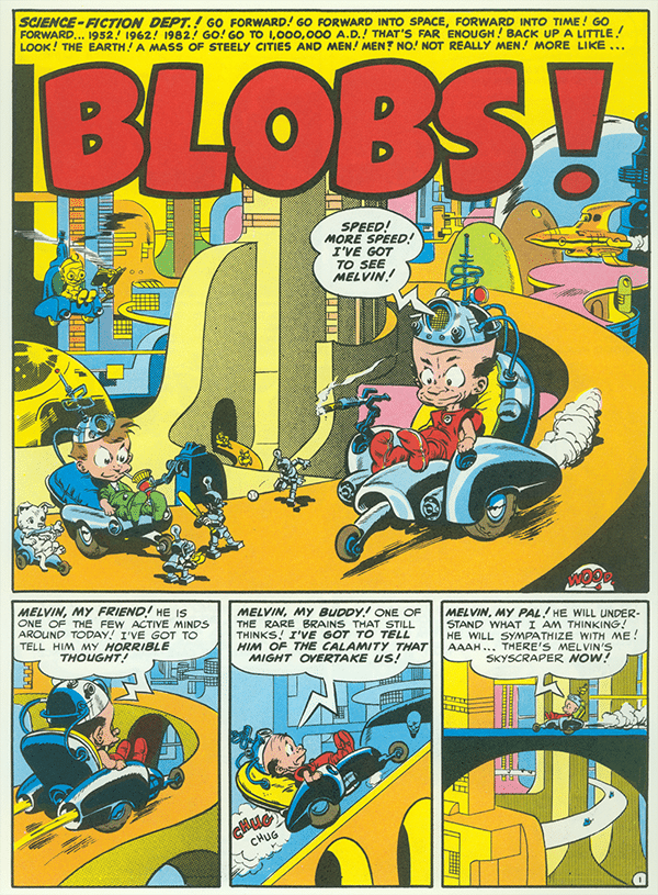 Wally Wood, comic cartoon, mad magazine blobs