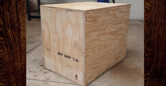homemade diy plywood plyometrics box