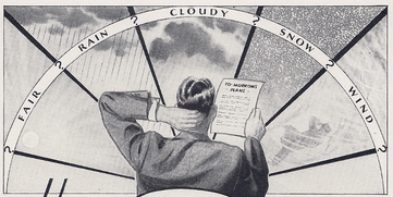 forecast weather vintage illustration