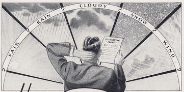 forecast weather vintage illustration