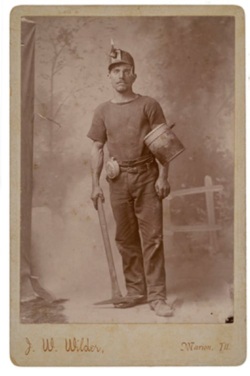 vintage, miner, t-shirt, undershirt