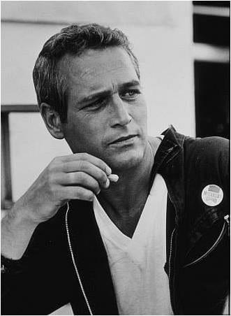 Paul Newman, v-neck t-shirt, style