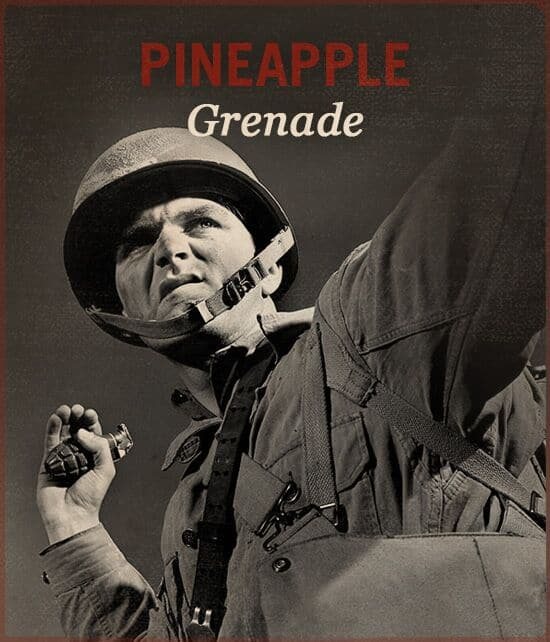 pineapple grenade wwii slang world war ii