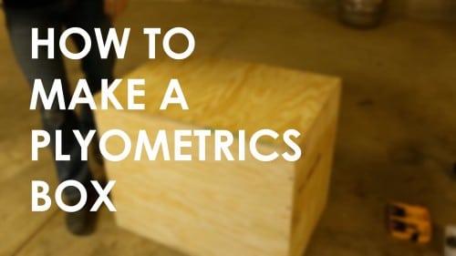 Homemade DIY Plyometrics box.