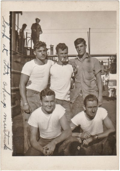 WWII, World War II, sailors in undershirts