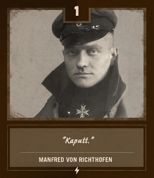 Vintage Manfred Von Richthofen last words Kaputt.