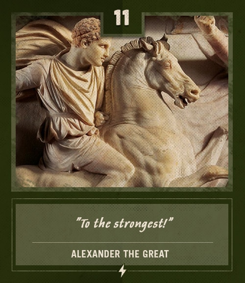 alexander the great last words to the strongest