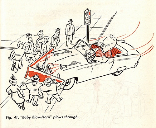 driving instruction manual vintage illustration