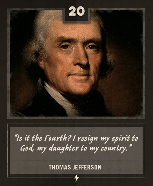 thomas jefferson last words