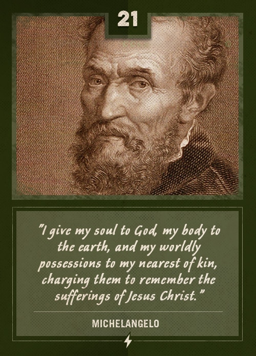 michelangelo last words