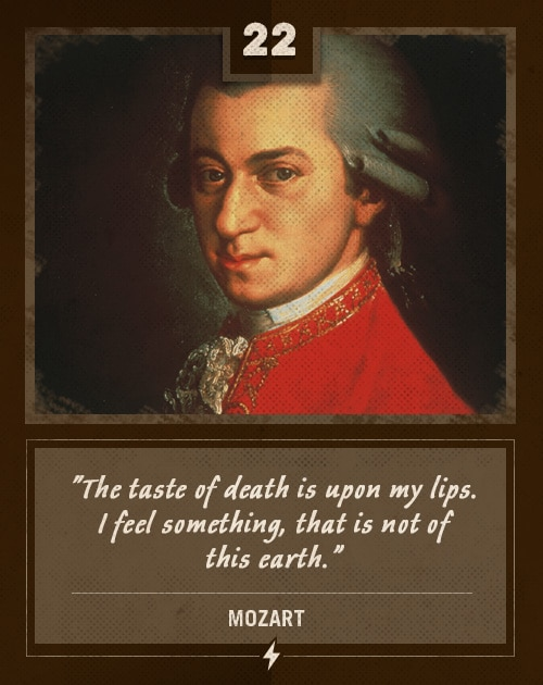 mozart last words