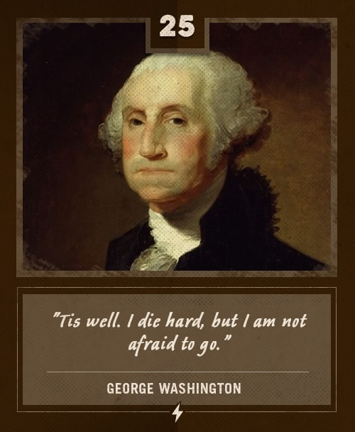 george washington last words