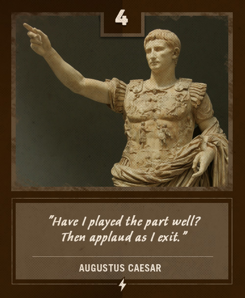 augustus caesar last words