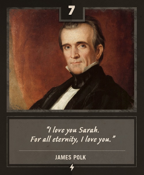james polk last words i love you sarah