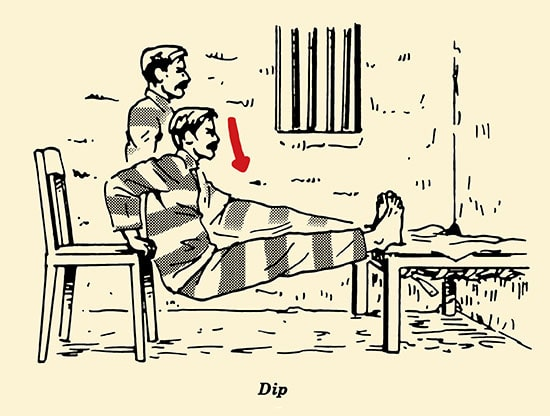 Illustration Dip Prisoner Workout Convict Conditioning Bodyweight Exercises