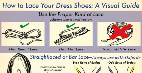 how to lace dress shoes illustrated guide