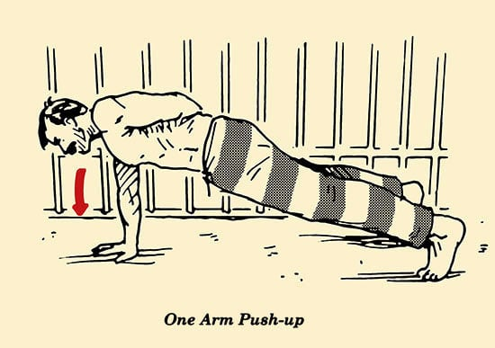 Illustration One Arm Push Up Prisoner Workout Convict Conditioning Bodyweight