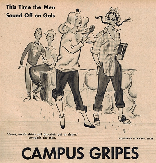 campus gripes from PIC magazine mid 1900s