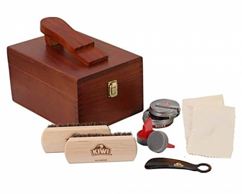 Shoe shine kit groomsmen gift.