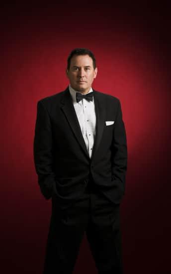 Wade tower crooner lounge singer portrait photo.