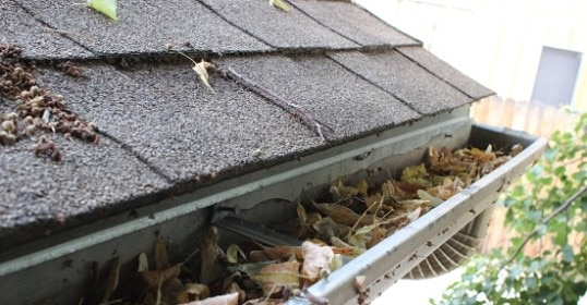 gutter fulls of leaves how to clean gutters