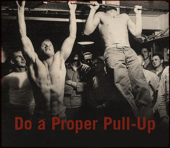Do a proper pull up.