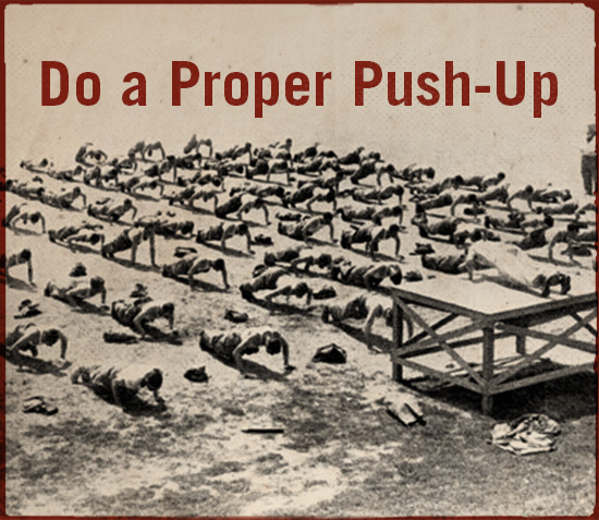 Do a proper push up.