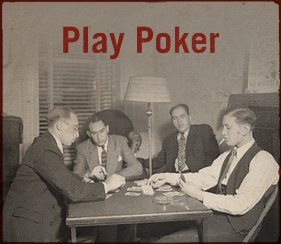 Men are playing poker.