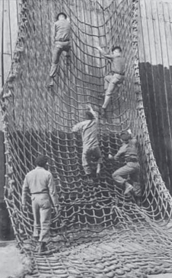WWII 1940s fort benning army rangers cargo net.