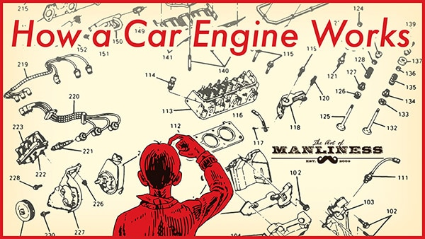 how a car engine works illustration