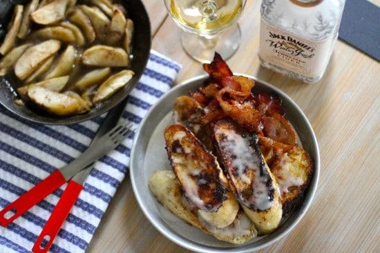 french toast whiskey glaze breakfast recipe