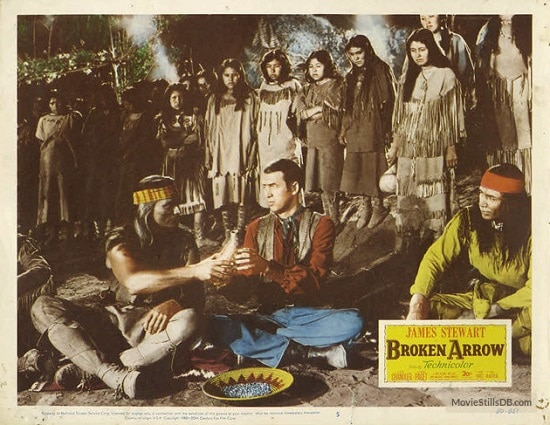james stewart broken arrow western movie poster