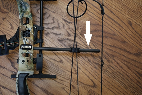 Compound bow parts accessories cable guard.