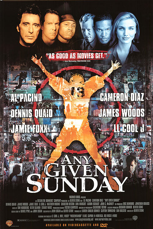 any given sunday poster best football movies