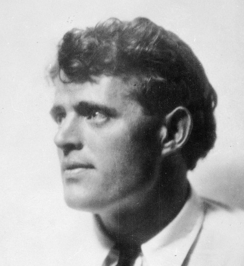 Jack london head shot looking off into distance.