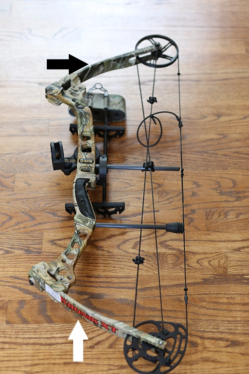 Compound bow parallel limbs parts and anatomy.