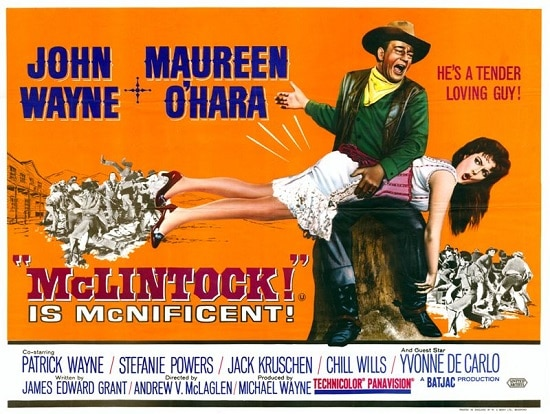 cartel de película occidental de mclintock john wayne